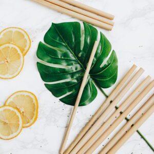 rietjes uit bamboe van bambaw
